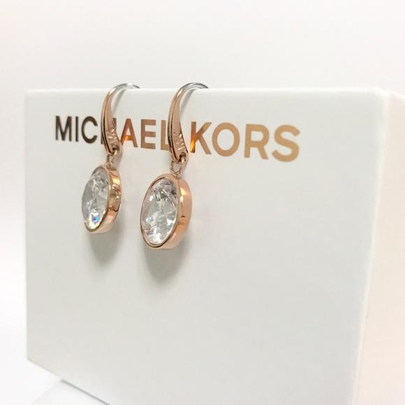 054dc7e4e3e6 Authentic MK rose gold tone stone drop earrings